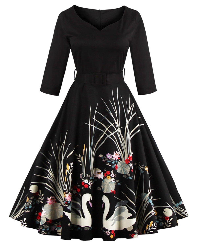 Floral Swan Dress