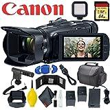 Canon Vixia HF G50 UHD 4K Camcorder (Black) w/ 64GB Memory Card - Directional Microphone - Card Reader - Bonus Battery & More (Tamaño: Vlog / Interview kit)