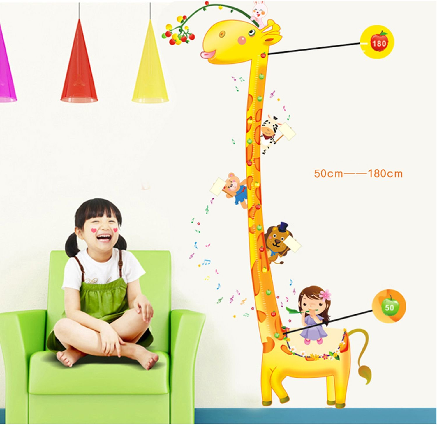 height charts for babies online buy height charts for babies in syga uberlyfe giraffe height measurement growth chart wall sticker pvc vinyl 61 cm x 5 cm x 5 cm