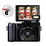 Digital Camera Vlog Camera Full HD 1080p 24.0MP Camcorder Vlogging camera With 3.0 Inch Flip Screen Camera Retractable Flashlight (Color: G1)
