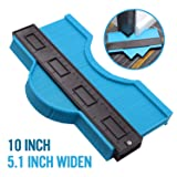 10 Inch Widened Contour Gauge Duplicator, Contour Tool Profile Guide for Woodworking Project Copy Layout Shape and Tile Cutting Measuring Tool -Extra Measure Depth (Blue) (Color: Blue, Tamaño: Extra Large)