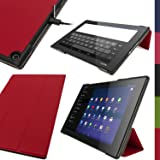 iGadgitz Premium Red PU Leather Smart Cover Case for Sony Xperia Z2 Tablet SGP511 10.1