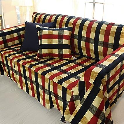 Puro algodón funda/ toalla de sofá/Portada de tela-A 190x300cm(75x118inch)