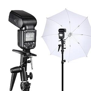 Selens Flash Bracket Shoe Umbrella Holder Light Stand Bracket S-050 for Canon 600EX-RT 580EX II 270EX II/ Nikon SB910 SB900 SB500 SB300/ Yongnuo 600EX-RT 580EXII 560IV etc (Color: M11-050 H)