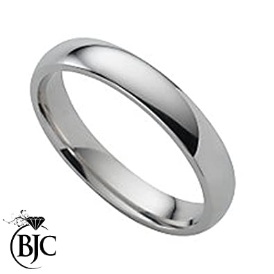 Solid hallmarked 950 palladium 4mm wide wedding band ring size J BRAND NEW WITH FREE PRESENTATION BOX