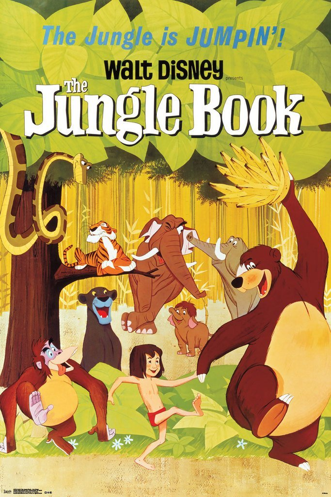 The Jungle Book One Sheet Vintage Style Movie Poster 24x36 0