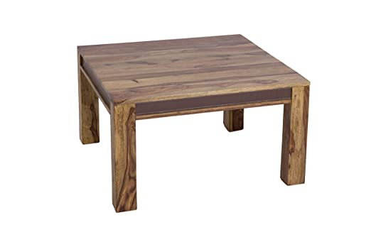 SHAN LAGER 6338-K Couchtisch, Beinstärke 8 cm, Holz, shina,  80 x 80 x 45 cm