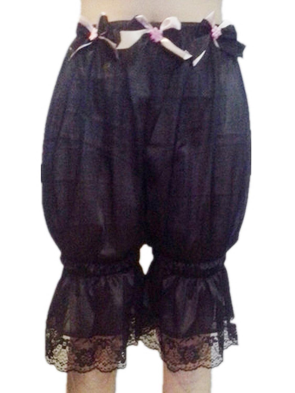 Frauen Handgefertigt Großhandel Los 3 pcs L2BBK1 Black Lot 3 pcs Handmade Half Slips Nylon Lace Women