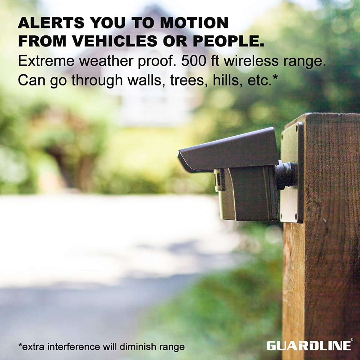Guardline Wireless Driveway Alarm- Top Rated Outdoor Weatherproof Motion Sensor & Detector- Best DIY Security Alert System- Stay Safe & Protect Home, Outside Property, Yard, Garage, Gate, Pool.