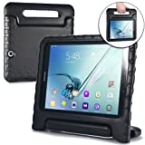Cooper Dynamo [Rugged Kids Case] Protective Case for Samsung Tab S2 9.7   Child Proof Cover, Stand, Handle   T810 T811 T813 T815 T817 T819 (Black) (Color: Black, Tamaño: Samsung Galaxy Tab S2 9.7)