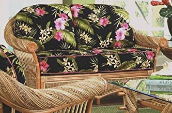 Love Seat with Cushions (Galina Onyx (All Weather))