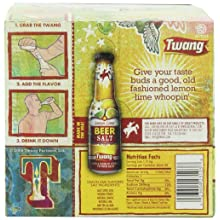 Twang Beer Salt, Lemon-Lime, 1.4-Ounce Bottles (Pack of 24)