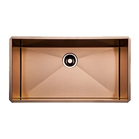 Rohl RSS3016SC 30-Inch Single Basin Kitchen Sink, Stainless Copper