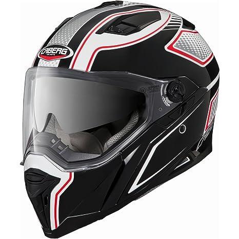 Nouveau casque de moto blanc/noir/rouge lame Caberg Stunt