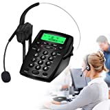 Wikoo Handsfree Call Center Dialpad, Black Corded Dialpad with Mute Function For Home & Business, Comes with Noise Cancelling Headset -- Noise Cancellation (Color: Black)