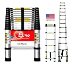 Euro Telescopic Aluminium ladder 3.2mtr Stores at 2.5 feet Made in USA Ultra Portable