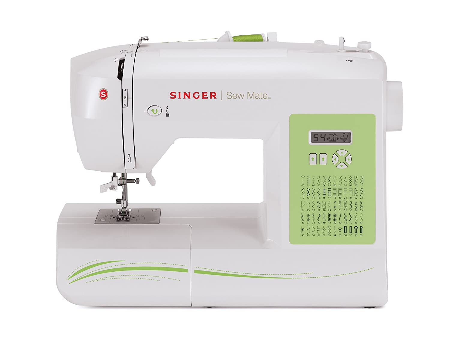 SINGER Factory Serviced 5400 Fashion Mate 60-Stitch Electronic Sewing Machine