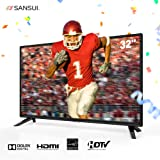 Sansui 32 Inch TV 720p LED LCD HD Monitor Flat Screen TVs For Home Entertainment (2018 Model)