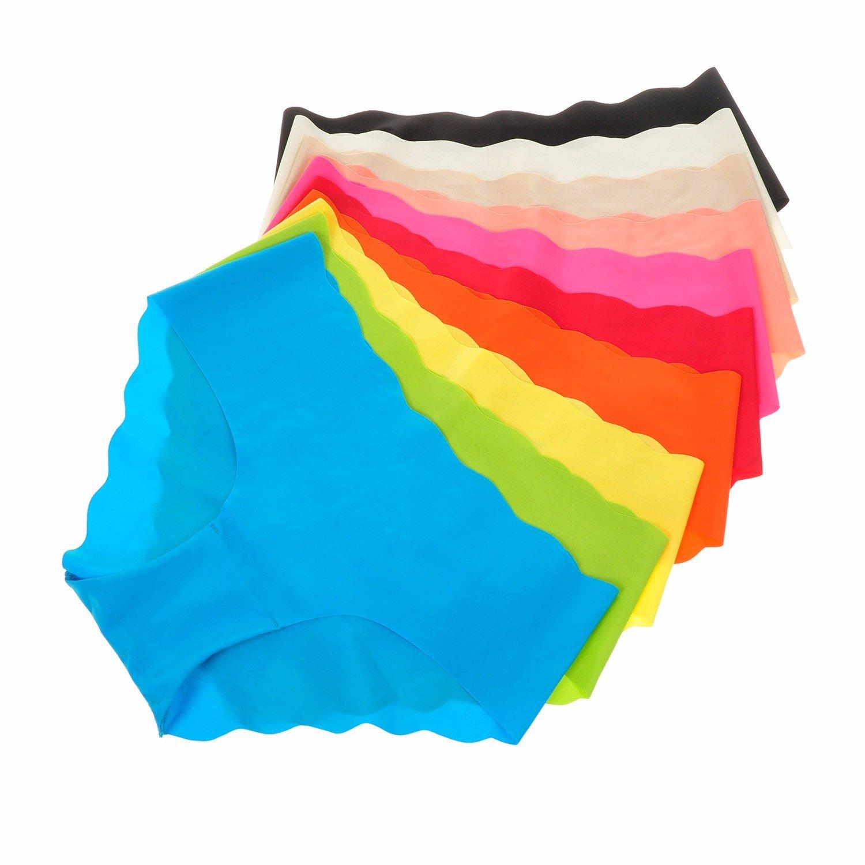 La Isla Damen 6er Pack Slip Low Cut Slip - Nahtlos Weich Bikini Hüftslip Pant