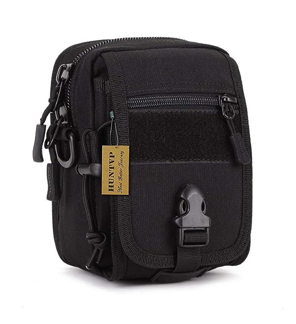 Protector Plus Military Tactical MOLLE Phone Pouch Waist Belt Bag Pack Gear Messenger Shoulder Saddlebag (Color: Black)