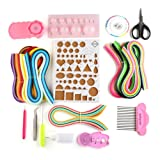 FREE365 5mm Paper Quilling Kits with 36 Colors,960 Strips and 12 DIY Tools Paper Filigree Set with Board Mould Crimper Coach Comb