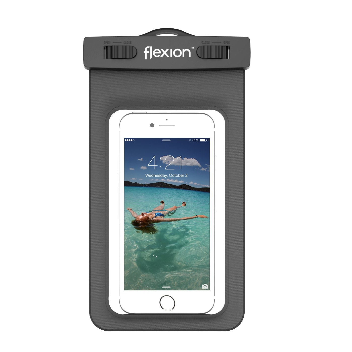 Flexion Kinetic Series Waterproof Case for Apple iPhone 6, 5S, 5C, 5, Samsung Galaxy S6 and S6 Edge S5, S4 (Black)