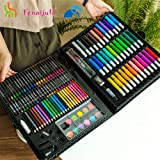 Art Supplies for Kids,150 Children's Brush Suits, Watercolor Crayons, Oil Stick Painting Tools