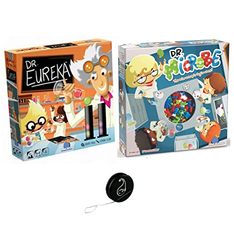 Lot de 2 jeux Blue Orange: Dr Eureka + Dr Microbe + 1 Yoyo Blumie