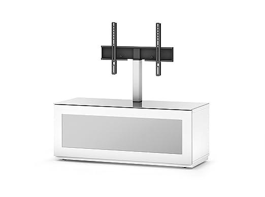 Sonorous STD 110I-WHT-WHT-BW Studio TV-Lowboard fur 132,08 cm (52 Zoll) Fernseher weiß