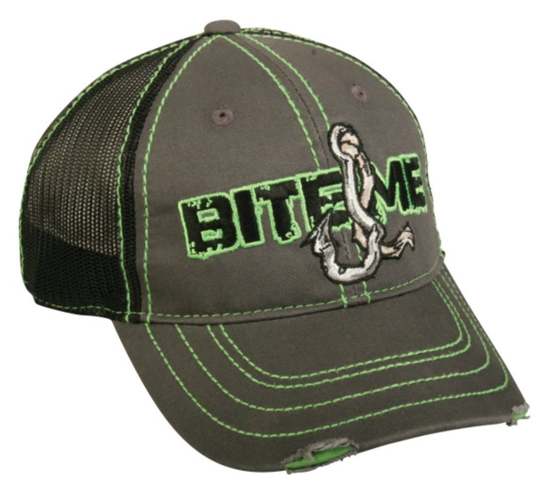 Bite me fishing mesh hat ebay for Mesh fishing hats