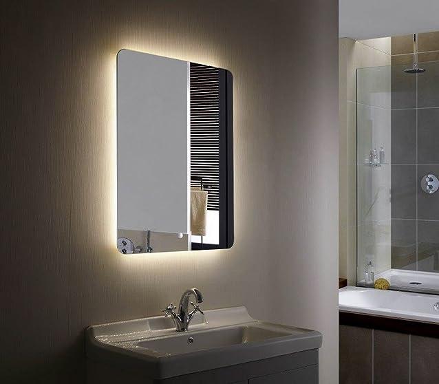 Glow Specchio illuminazione LED Anti appannaggio Da Bagno o Camera - Luce LED efficienza elettrica 800 x 600mm