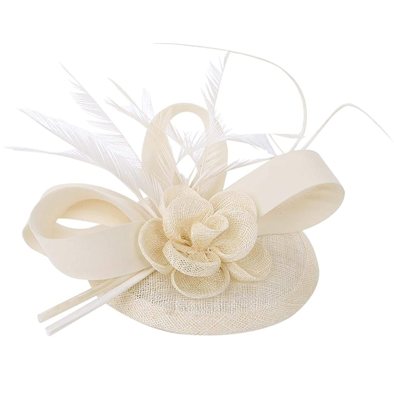 Cocktail Pillbox Hat Fascinator Hair Clip Bridal Headwear for Women 1