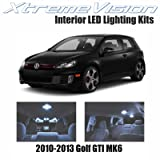 XtremeVision Volkswagen Golf GTI MK6 2010-2013 (8 Pieces) Cool White Premium Interior LED Kit Package + Installation Tool