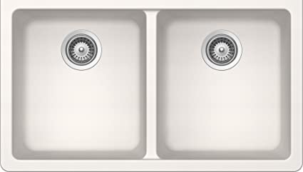 SCHOCK ALIN200YU099 ALIVE Series CRISTADUR 50/50 Undermount Double Bowl Kitchen Sink, Polaris