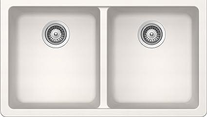 SCHOCK ALIN200YU099 ALIVE Series CRISTADUR 50/50 Undermount Double Bowl Kitchen Sink, Polaris