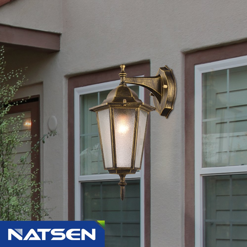 NATSEN Vintage Village Wall Sconce 1-Light Wall lamp E26 Metal max E26 60W bulb 1
