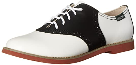 black and white keds saddle shoes