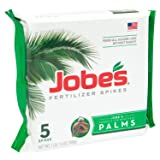 Jobe's Palm Tree Fertilizer Spikes 10-5-10 Time Release Fertilizer for All Outdoor Palm Trees, 5 Spikes Per Package (Tamaño: 5 Spikes)