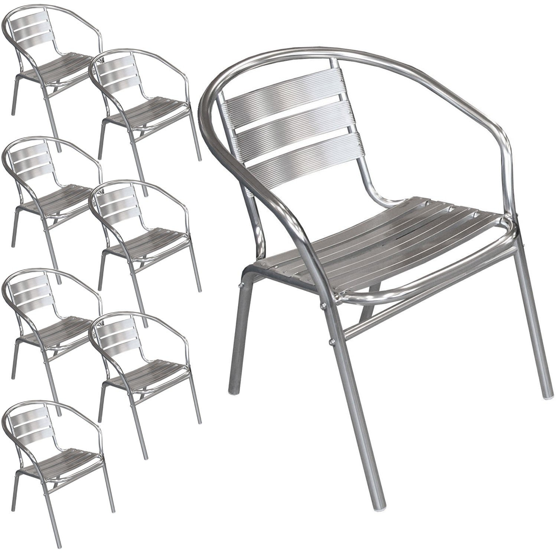 8 Stück Bistrostuhl stapelbar Aluminium Stapelstuhl Campingstuhl Gartenstuhl Küchenstuhl Gartenmöbel Silber jetzt bestellen