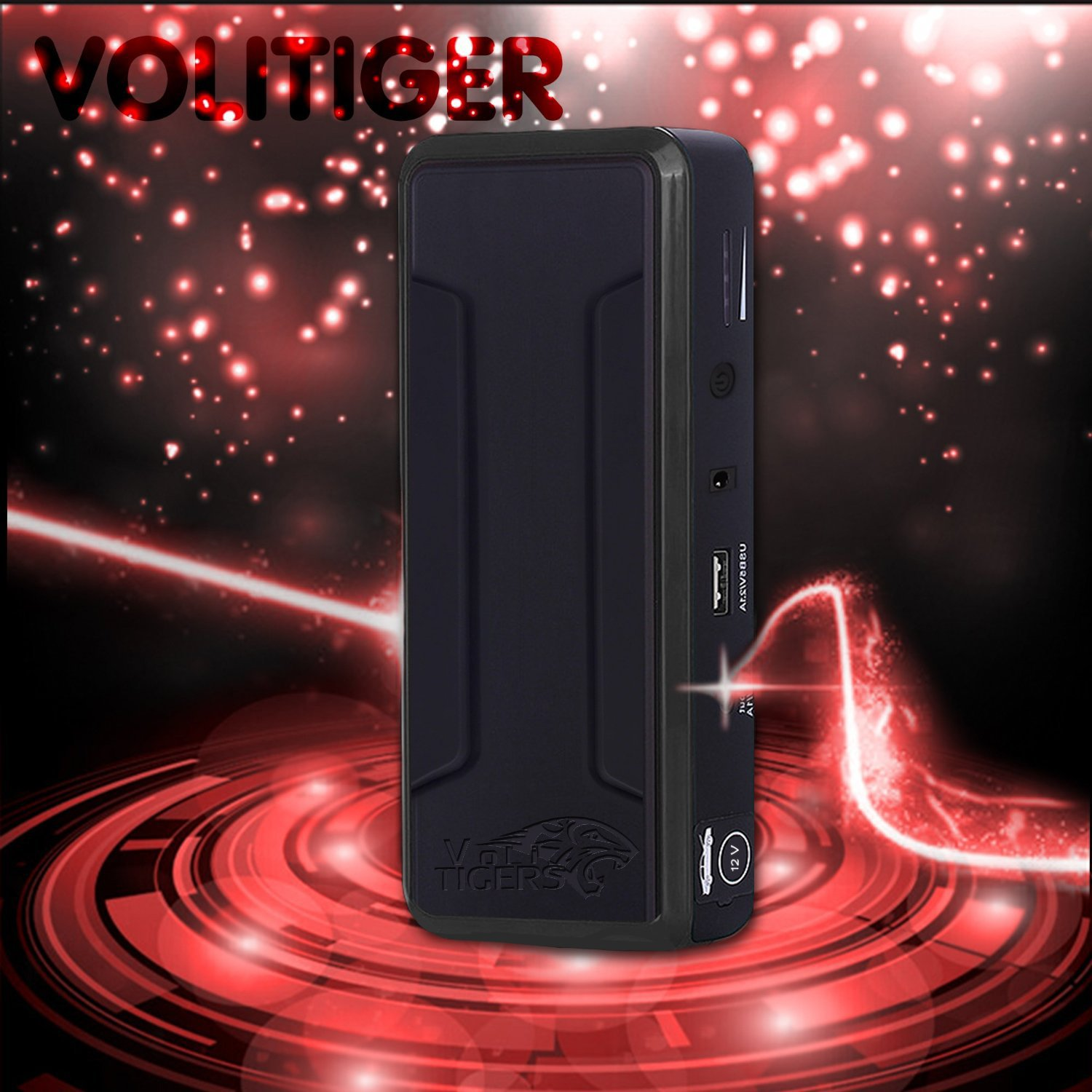 (Power Upgraded) Volitiger 30000mah Never Stop Emergency Portable Car Jump Starter Power Bank with Light Car Power Bank(volitiger.com) Emergency for Cellphone (Super Tiger) - 5 Year Limited Warranty
