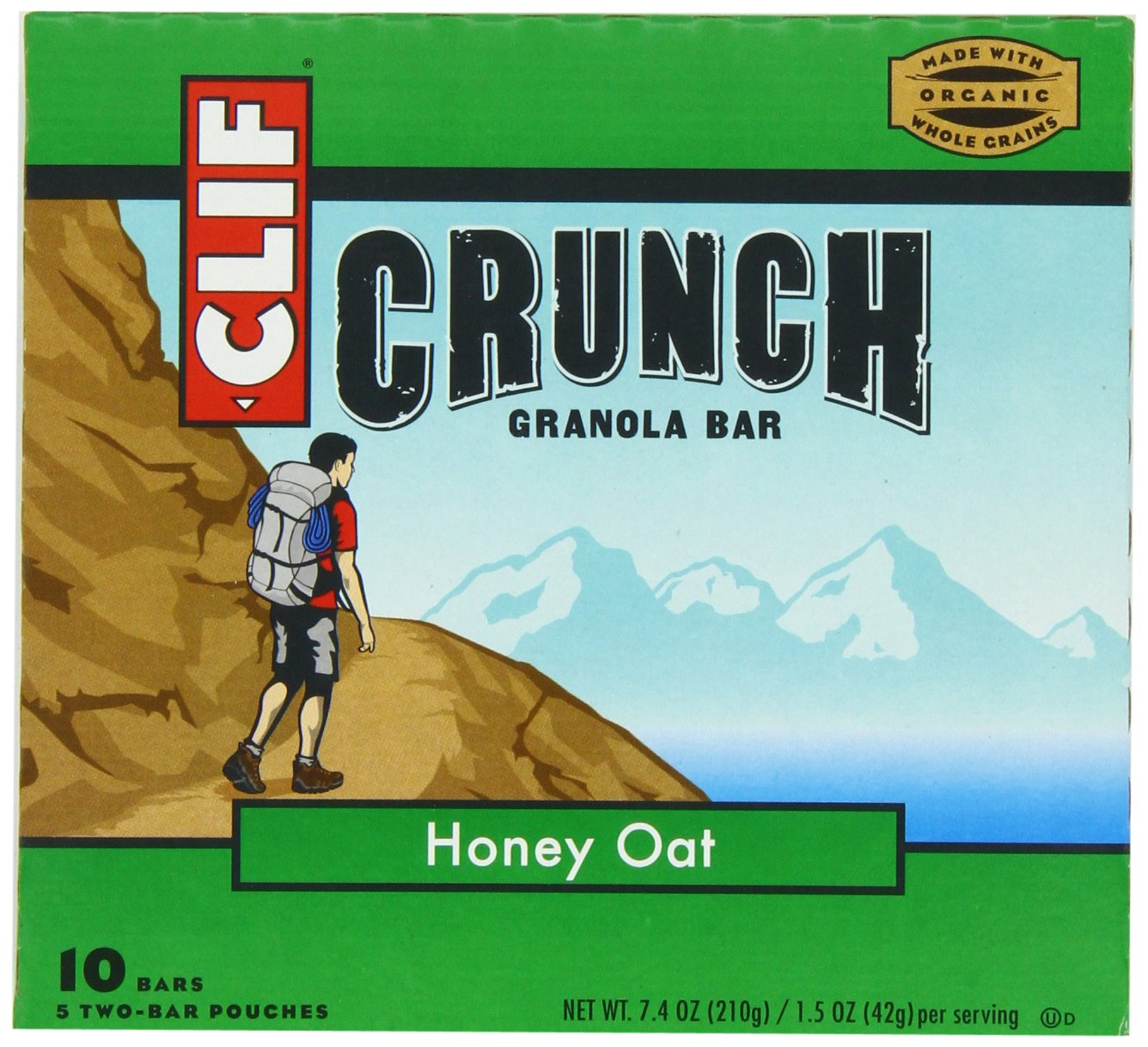 Clif Crunch Granola Bar, Honey Oat, 5 Two-Bar Pouches Net Wt. 7.4 Oz. $3.19