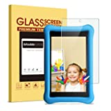 All-New Fire HD 8 Kids Edition Screen Protector - SPARIN Tempered Glass Screen Protector for Fire HD 8 and Kids Edition Tablet 2017 Release (Color: Clear, Tamaño: 8 Inches)
