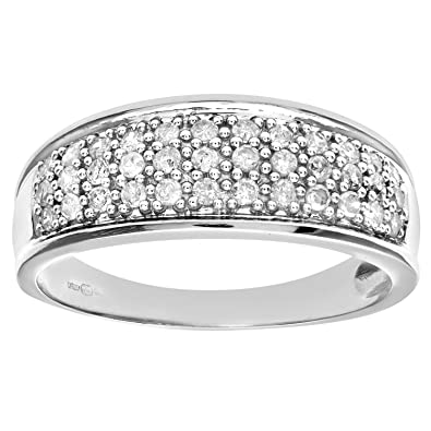 Naava 9ct Quarter Carat Diamond Multi Row Eternity Ring