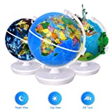 Smart World Globe - 2 In 1 Illuminated Globe with Built-in Augmented Reality Technology, Earth by Day, Constellations by Night, AR App Experience, Adventure and Discovery, Educational Gift for Child (Tamaño: 10
