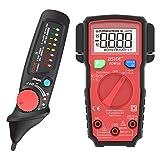 Bside Home Line Safety Check Kit Smart True RMS Voltmeter and Dual Mode Non-Contact Voltage Detector Pen Set (Color: Voltage Detector Multimeter Kit, Tamaño: Pocket Size)
