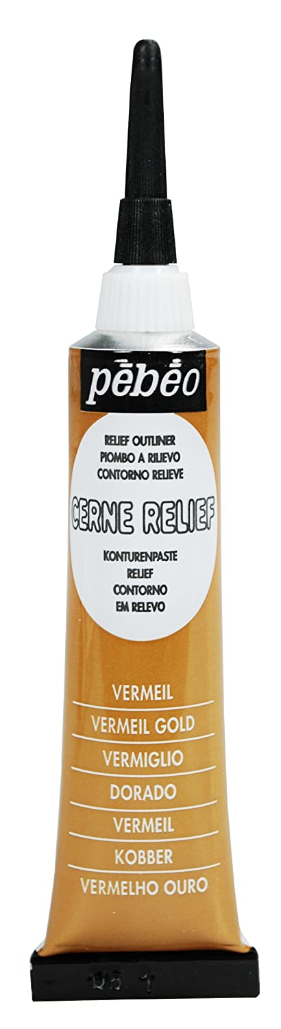 Pebeo Vitrail Stained Glass Effect Cerne Relief 20-Milliliter Tube with Nozzle , Vermeil Gold autoprofi 650