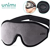 Eye Mask for Sleeping, Unimi 3D Contoured Sleep Mask & Blindfold for Men Women,Super Soft and Comfortable,100% Blockout Light 3D Eye Cover for Travel, Shift Work, Naps (Gray) (Color: Gray)