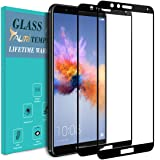 Huawei Honor 7X Screen Protector, [2-PACK] TAURI [Full Cover] Tempered GlassScreen Protector with Lifetime Replacement Warranty - Black