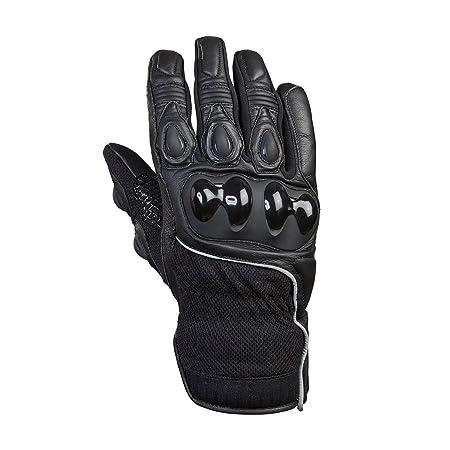 Germas 404 01-10-l gants razor (cuir-textile) pour moto noir taille l :
