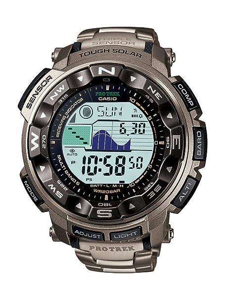 超级低价:Casio Men's PRW2500T-7CR Pathfinder Triple Sensor Tough Solar Digital Multi-Function Titanium Pathfinder Watch-奢品汇 | 海淘手表 | 腕表资讯